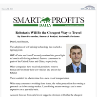 Robotaxis Will Be the Cheapest Way to Travel