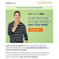 For You: Proven Weight Loss Plan for $289!