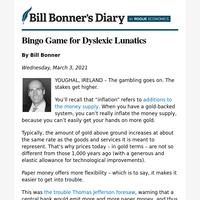 Bingo game for dyslexic lunatics