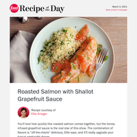 Ellie's Easy Roasted Salmon with Grapefruit Sauce