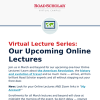 Upcoming LIVE Online Lectures: Butterflies + Literature + More