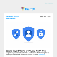 "Google Says It Wants a ""Privacy-First"" Web"