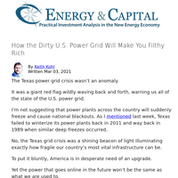 How the Dirty U.S. Power Grid Will Make You Filthy Rich