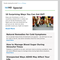 10 Surprising Ways You Can Get DVT