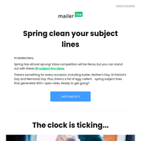 101 subject lines for your spring email campaigns