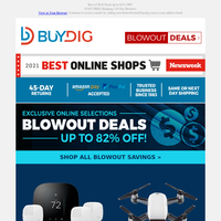 💥 Blowout Deals Up to 82% OFF 💰 SmartHome, Drones, Fitness Trackers and More!