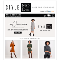 International Trend Inspiration Edition - The Classic Look - Take 25% Off All Women's Clothing!