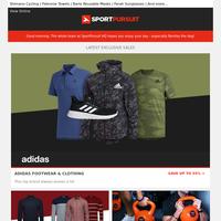 Adidas Footwear & Clothing | Bølger | Phoenix Fitness Kettle Bells | H.Koenig Kitchen Appliances | Wardrobe Essentials | Up to 65% Off!