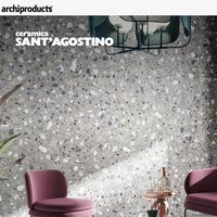 Ceramica Sant'Agostino Deconcrete: the timeless concrete terrazzo in porcelain stoneware
