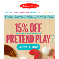 15% Off Pretend Play + A Play Food Fun Tip