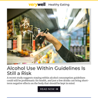 Alcohol Use Within Guidelines Is Still a Risk, Study Shows