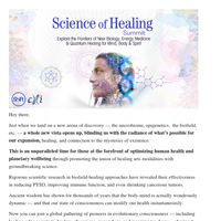 Explore the frontiers of new biology, energy medicine & quantum healing for mind, body & spirit