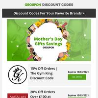 Mother's Day Gift Savings! Funky Pigeon • Matalan • adidas + more!