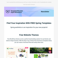 Find Your Inspiration With FREE Spring Templates 🌹