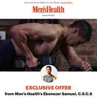 Stream Men's Health Workouts Free for One Month!