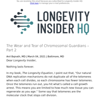 The Wear and Tear of Chromosomal Guardians – Part 2