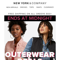 Tick Tock ⏰ Outerwear deals end at midnight