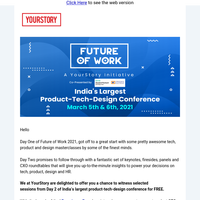 Limited Experience Passes available for Day 2 of Future Of Work | Sign up for FREE