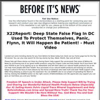 Deep State False Flag In DC