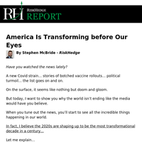 America Is Transforming before Our Eyes