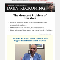 The Greatest Problem of Investors