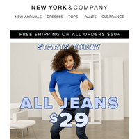 $29 👖 starts today!