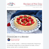 Cheesecake Made in a Blender