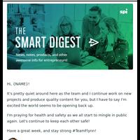 Opening back up [Smart Digest]