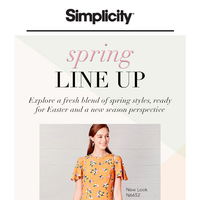 Spring Sewing Line Up