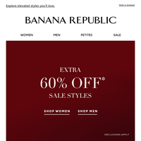 Just For You: Extra 60% Off Sale Styles + Up to 40% off