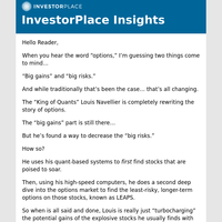 """Did Louis Navellier """"crack the code"""" on the options market?"""