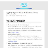 Keep up with Alexa