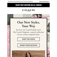 The Coach Originals, As Seen On Our Coach Family