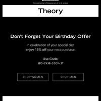 Your Birthday Offer Reminder