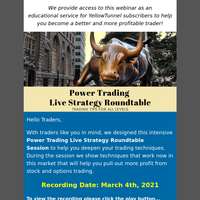 [New Recording] Power Trading Live Strategy Roundtable Session