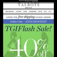 ⚡ FLASH SALE ⚡ 40% off wear-now styles