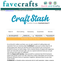 Get 15% Off At CraftStash.us, Exclusive Brands, Magazines & More