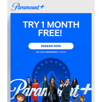 {NAME}, try 1 month FREE & start streaming on Paramount+!