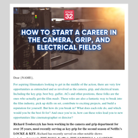 New Webinar: Start a Career in Camera, Grip and Electrical
