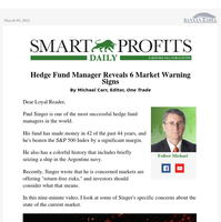 Hedge Fund Manager Reveals 6 Market Warning Signs