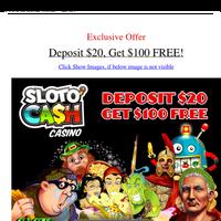 Exclusive Offer - Deposit $20, Get $100 FREE!