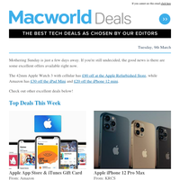 Best Apple Deals before Mother's Day UK