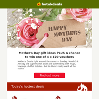 Bargain Mother's Day Bouquets 💐   Fab Deals on Spirits 🍹    4K TV Cube Refurb
