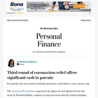 Personal Finance: Third round of coronavirus relief offers significant cash to parents