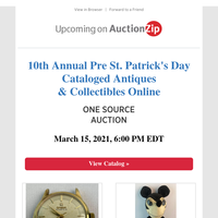 Pre St. Patrick's Day Antiques & Collectibles | One Source Auctions