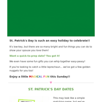How 288 couples used St. Patrick's Day to CONNECT - Try this Lucky Matching Game!