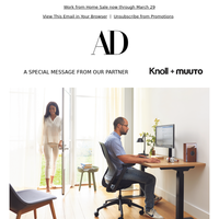 Knoll + Muuto Work from Home Sale Now Through March 29