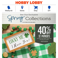 You're in Luck! 40% Off St. Patrick's Day