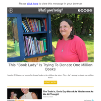 "Feel Good Friday: ""Book Lady"" Is Trying to Donate One Million Books"