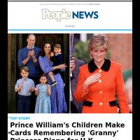 Prince William's kids make cards remembering 'Granny' Princess Diana for U.K. Mother's Day